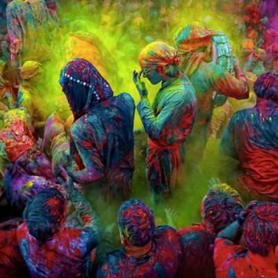 Холи - фестиваль красок в Индии