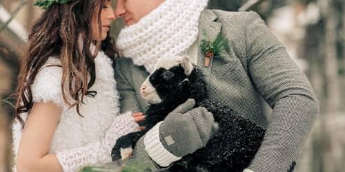 Образ жениха на зимней свадьбе